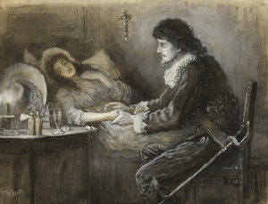 Illness of a stepmother_lying_ill_in_bed