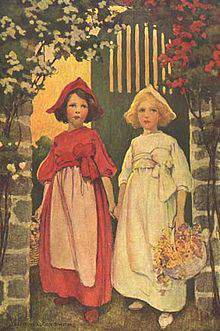 Snow-White and Rose-Red by Brothers Grimm_girls