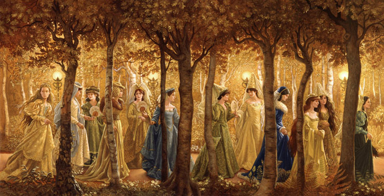 The twelve dancing princesses_Brothers Grimm_golden