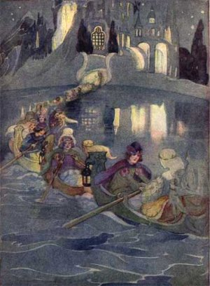 The twelve dancing princesses_Brothers Grimm_sailing