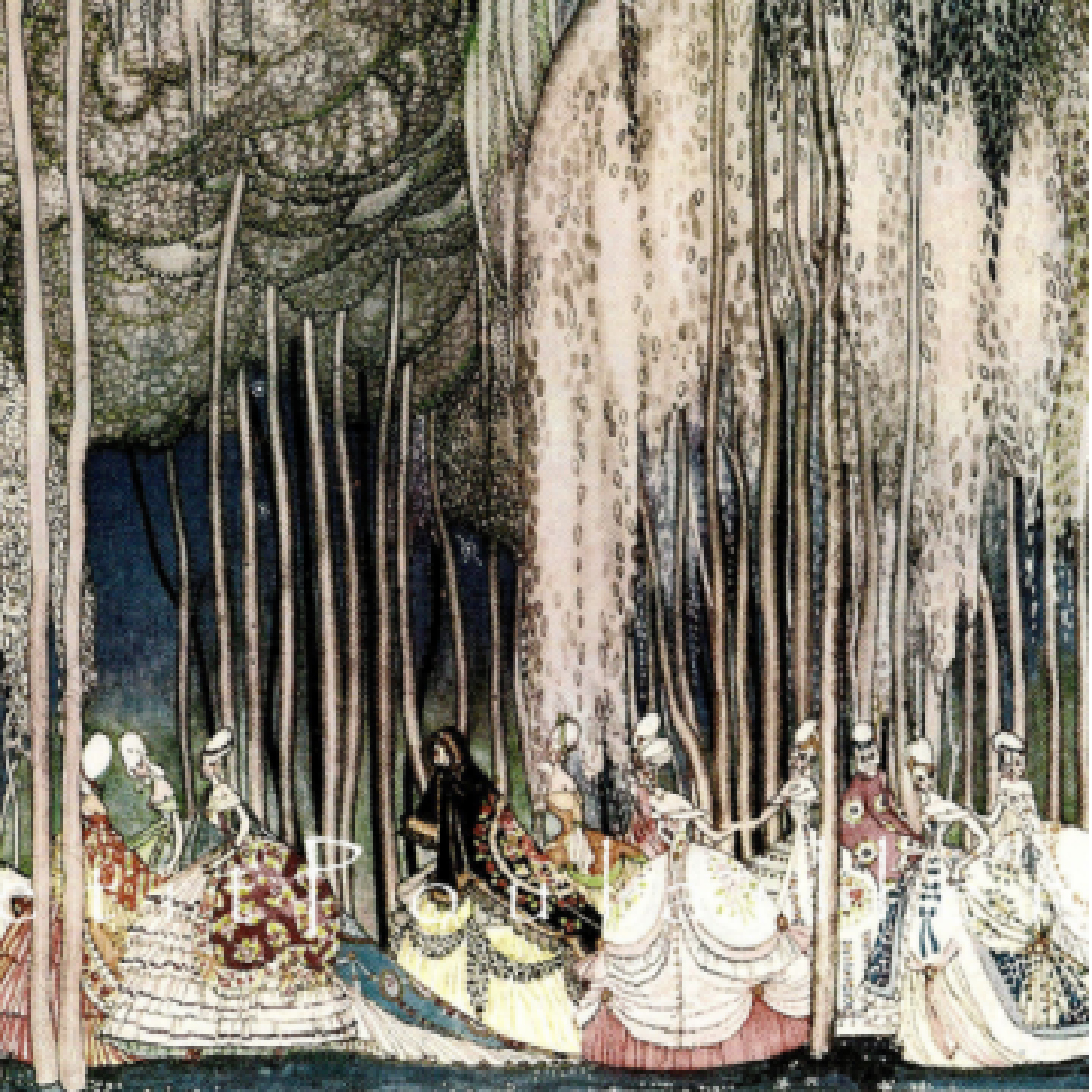 The twelve dancing princesses_Brothers Grimm_silver